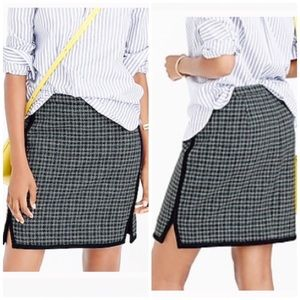 J.Crew | Double Notch Houndstooth Wool Skirt 4